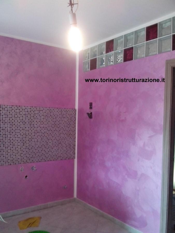 Foto: Fascia Cucina In Mosaico, Decorazione Effetto Sabbiato In Tinta e Vetrocemento di Md ...