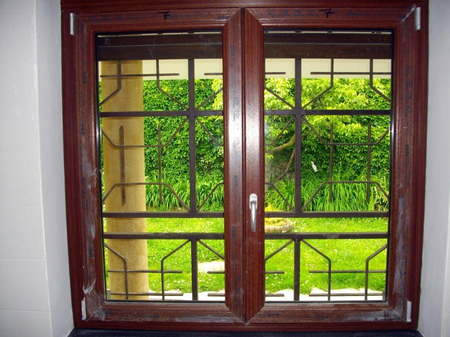 Foto finestra 2 ante pvc pellicolato douglas di la - Finestra a 2 ante ...