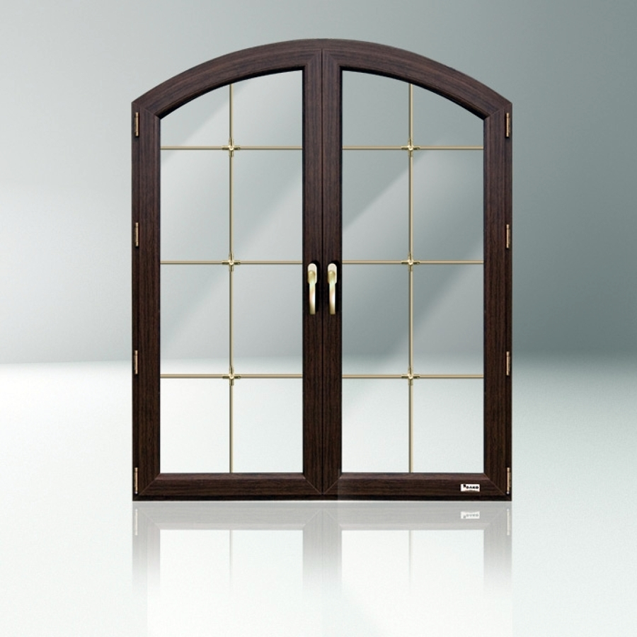 Foto finestra pvc ad arco 2 ante con inglesina di for Finestra pvc 2 ante