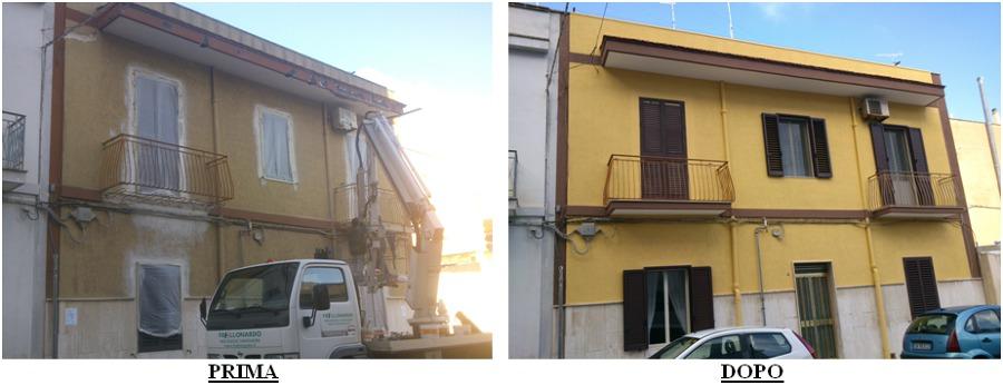foto prima e dopo i lavori
