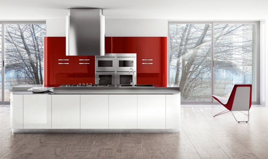 Foto cucine bicolore laccate de ingrosso mobili 371470 for Mobilifici pesaro