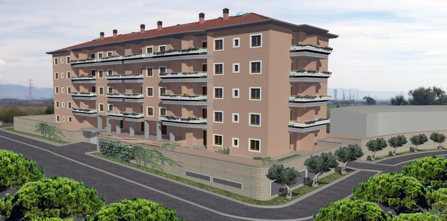 Foto fotoinserimento render edificio residenziale de for Piani di costruzione dell edificio