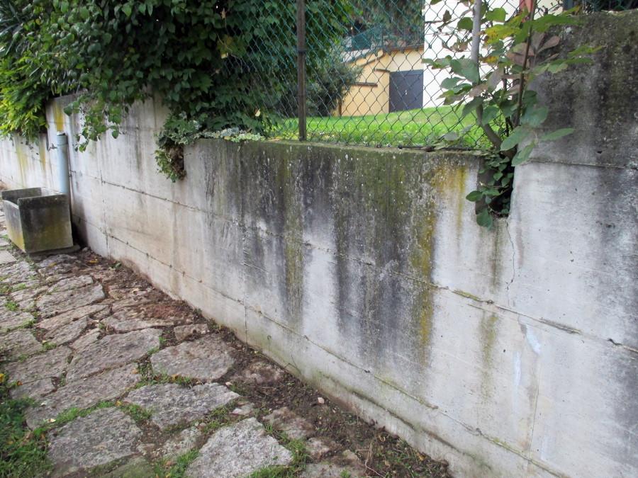 Idro lavaggio muro in cemento armato