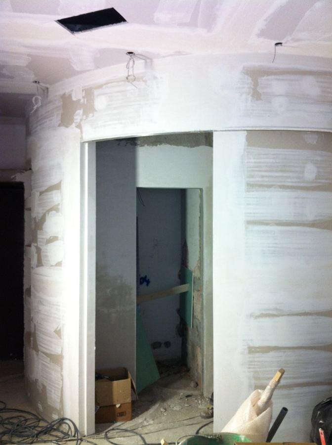Parete In Cartongesso Tonda : Foto salone con parete tonda di edilnastasi