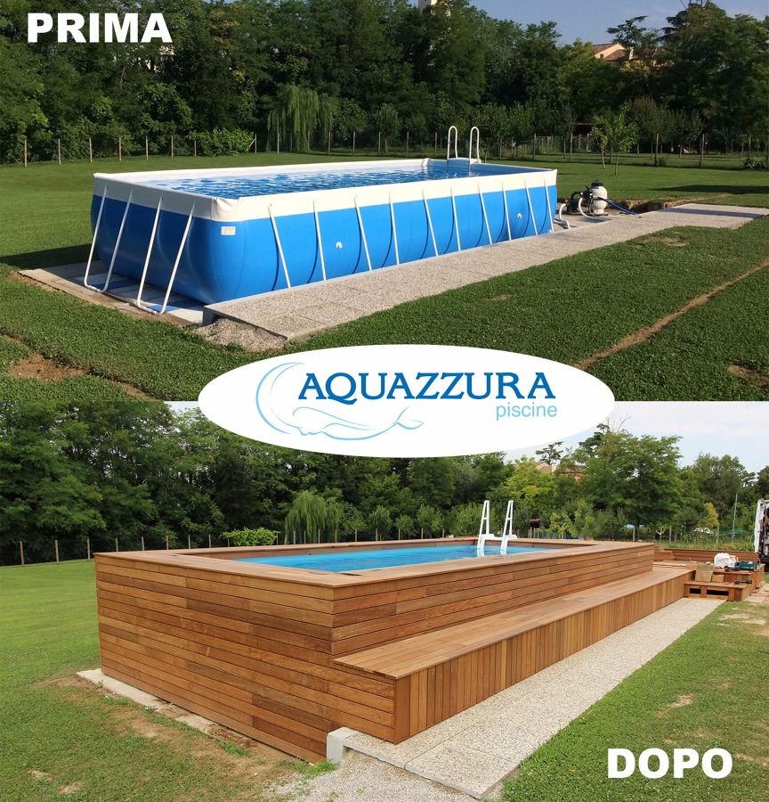 Piscine rivestite in legno - Realizzare una piscina ...