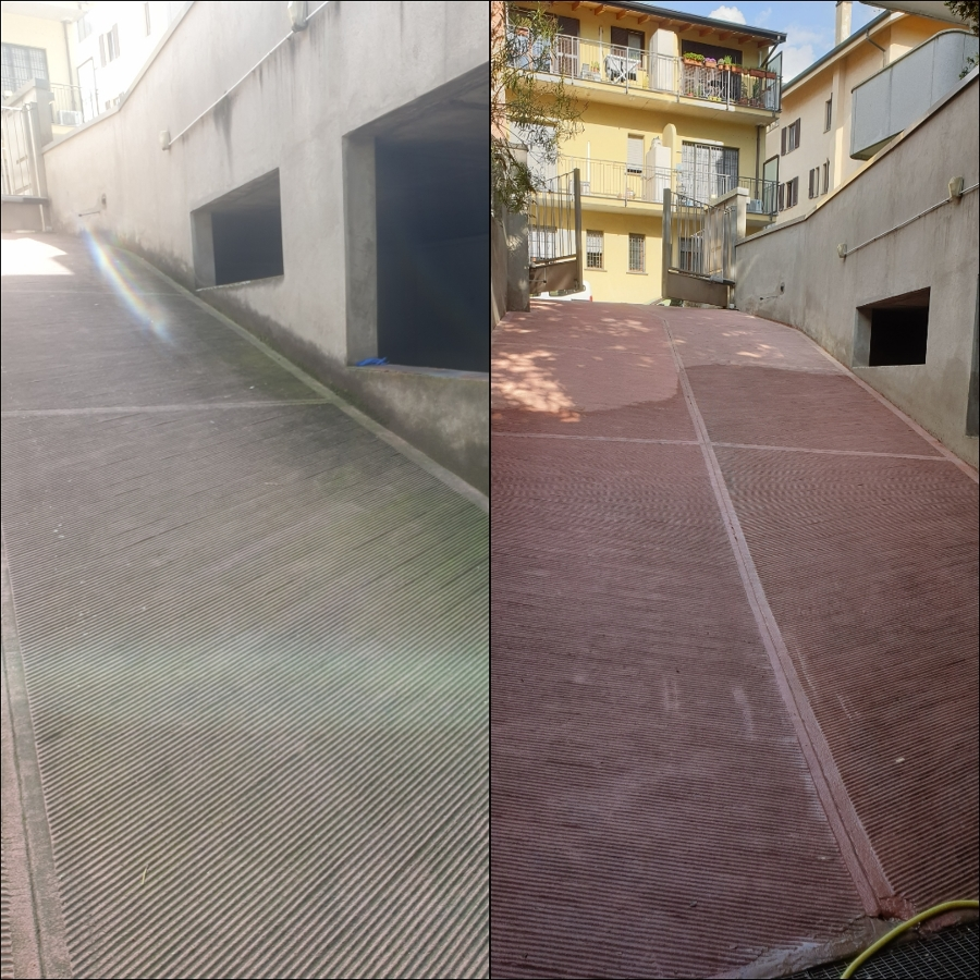 Pulizia rampa garage