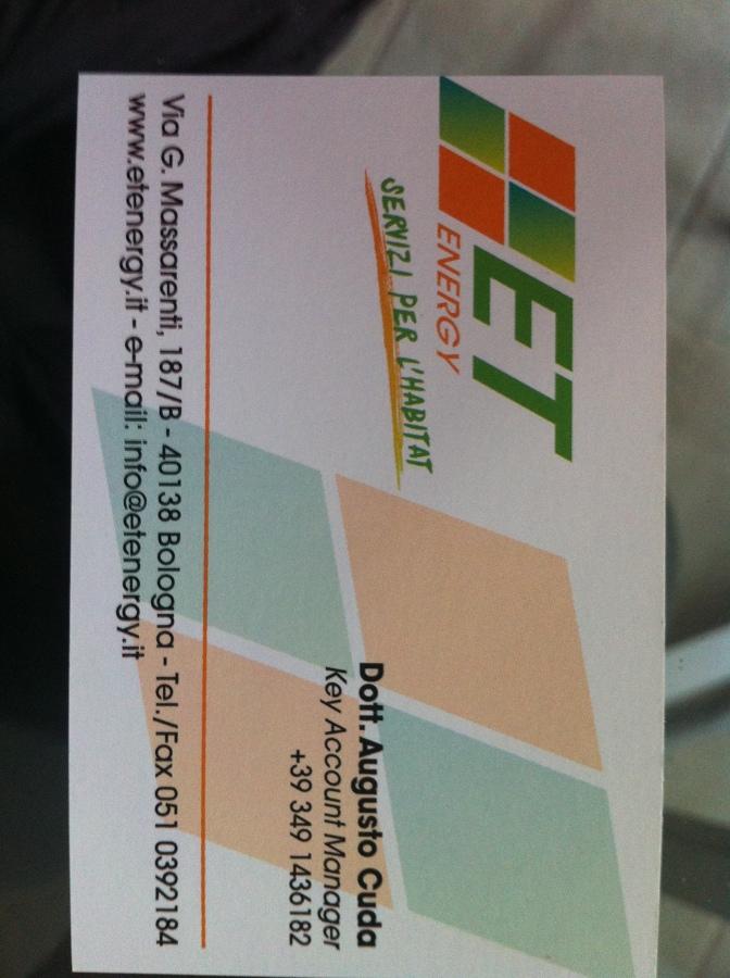 BIGLIETTINO DA VISITA FRONTE (AUGUSTO) 349 1436182  UFF 051 0392184