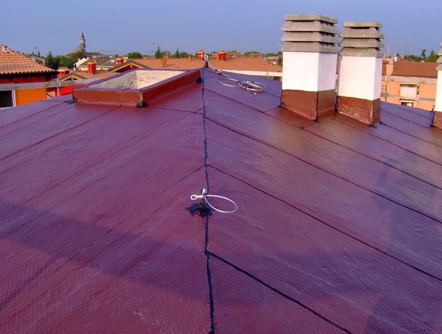 Impermeabilizzazione tetto con membrana bituminose