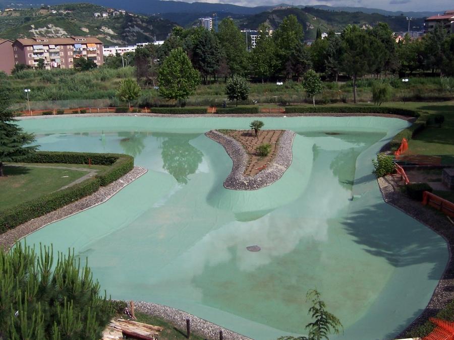 foto impermeabilizzazioni laghi artificiali di