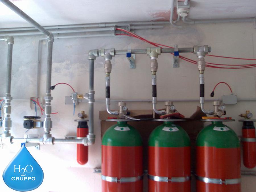Impianti antincendio ad azoto