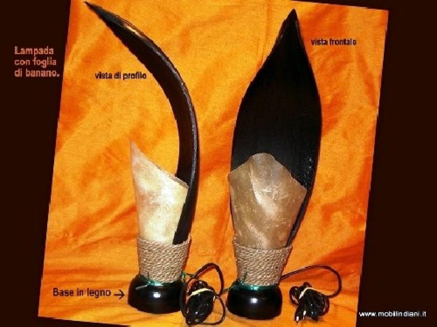 Foto: Lampada Etnica con Foglia di Banano di Mobili Etnici #41055 - Habitissimo