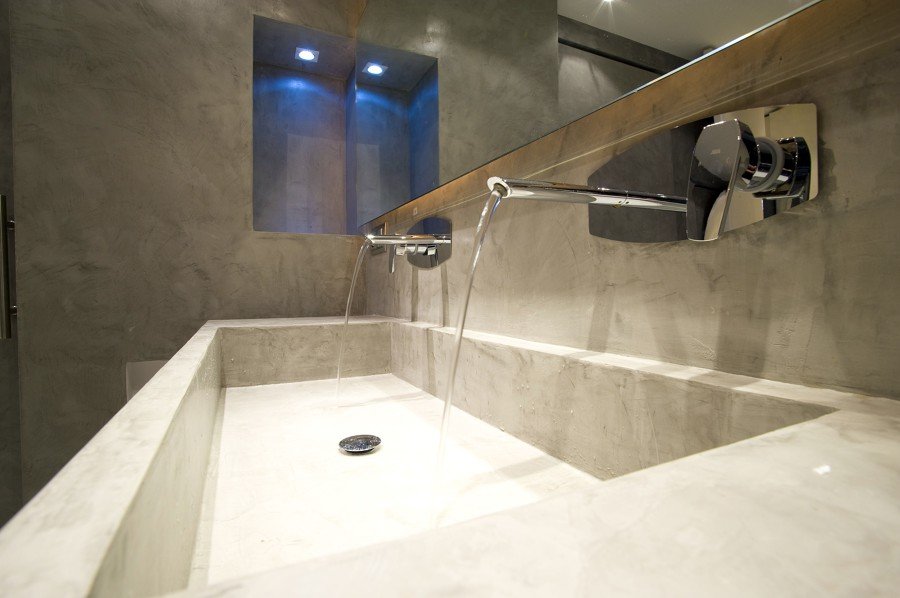 Foto lavabo in microcemento de microfloor cement design for Micro floor