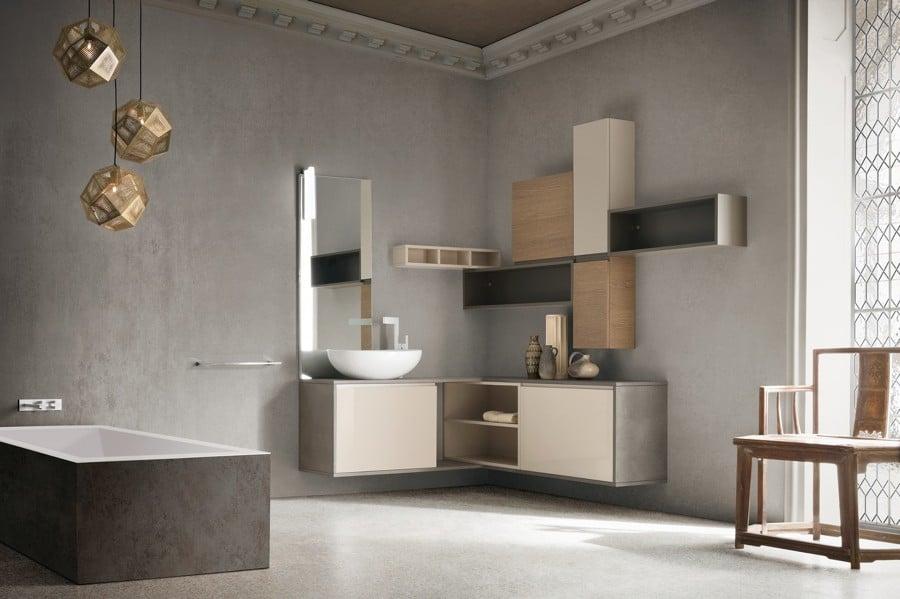 Foto bagno compab componibile su misura differenti finiture di arredamenti latina pistilli - Arredo bagno latina ...