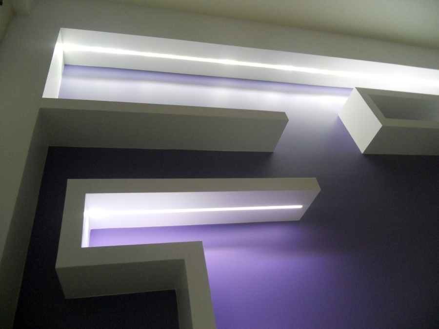Foto: Mensole In Cartongesso con Incasso Led di Patti Design #58470 - Habitis...