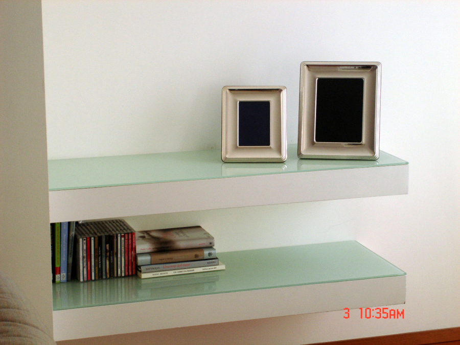 Foto: Mensole In Cartongesso e Cristallo di Borocci Marco #101545 - Habitissimo