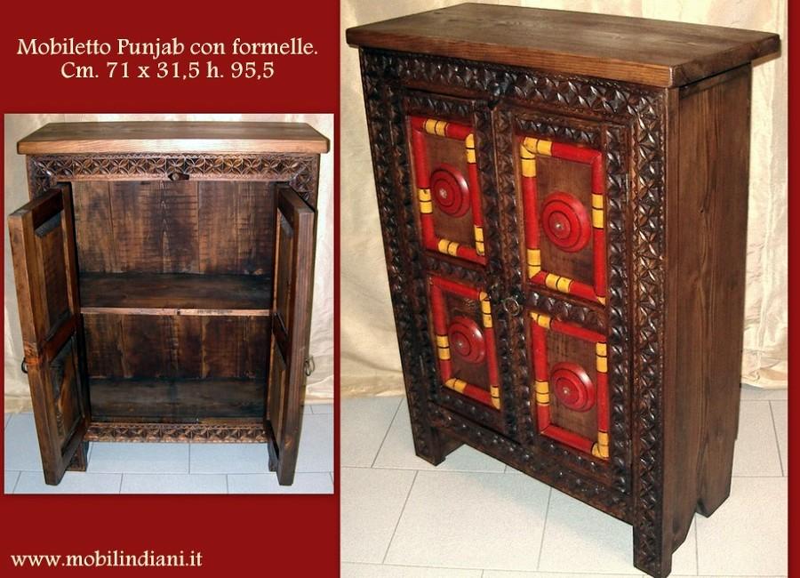 Foto mobile pakistano rosso con formelle de mobili etnici - De rosso mobili ...