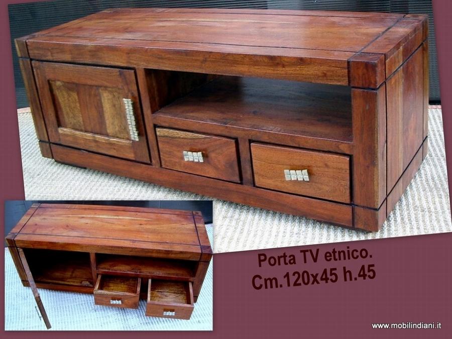 Foto mobile porta tv etnico basso di mobili etnici for Mobili di design a basso costo