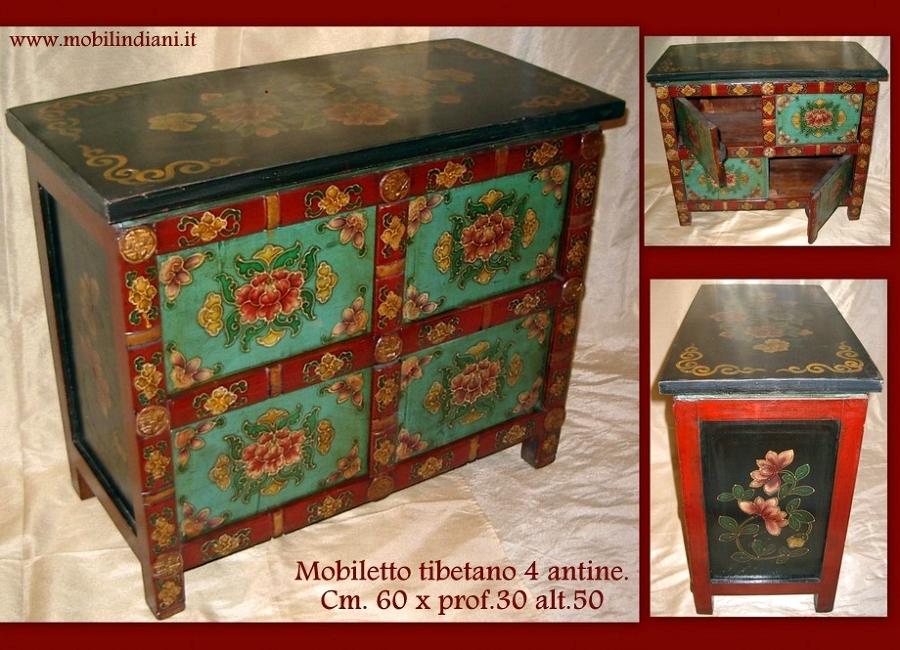 Foto mobiletto etnico dipinto di mobili etnici 113656 - Mobili tibetani roma ...