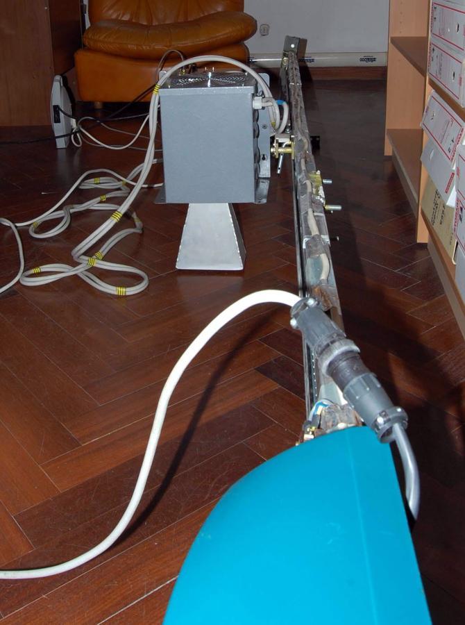 Trattamento a microonde su parquet