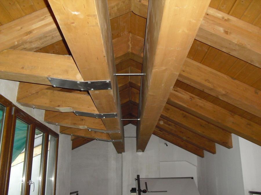 Foto nuova copertura in legno lamellare de architetto for Soppalco in legno lamellare