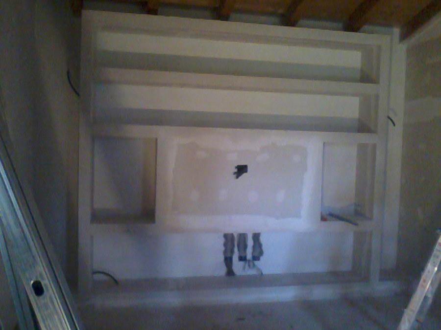 Foto parete attrezzata in cartongesso di decorgessi di - Costo specchio al mq ...