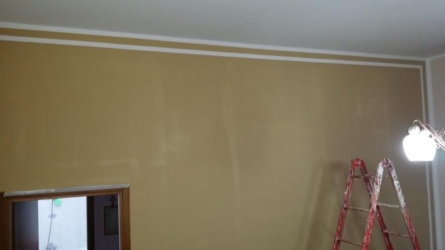 Pareti Bianche E Oro : Pareti color oro antico con stensil ~ decorare la tua casa