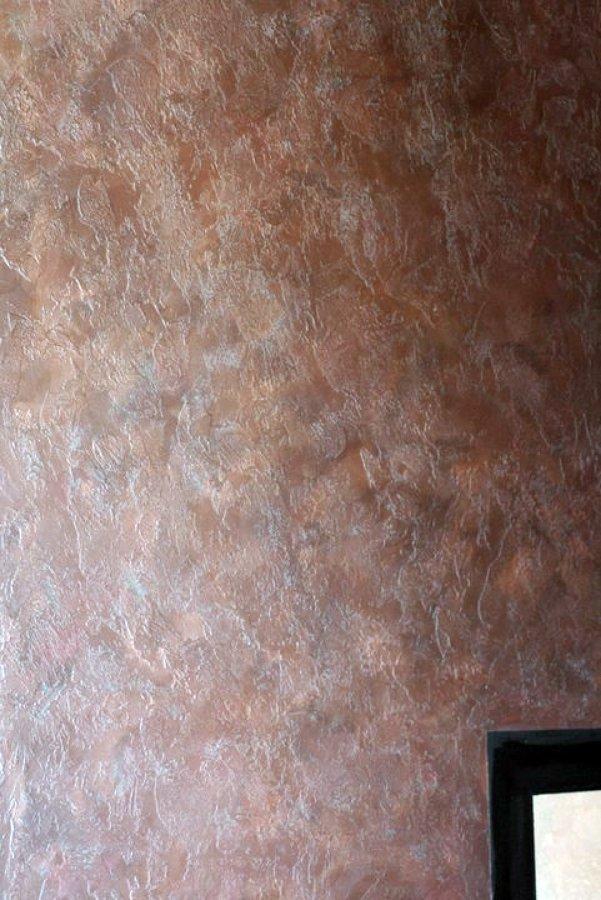 parete effetto antico ferro ruggine