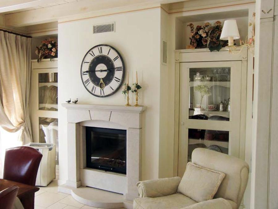 Parete Cartongesso Sala : Foto parete in cartongesso con caminetto di trevi