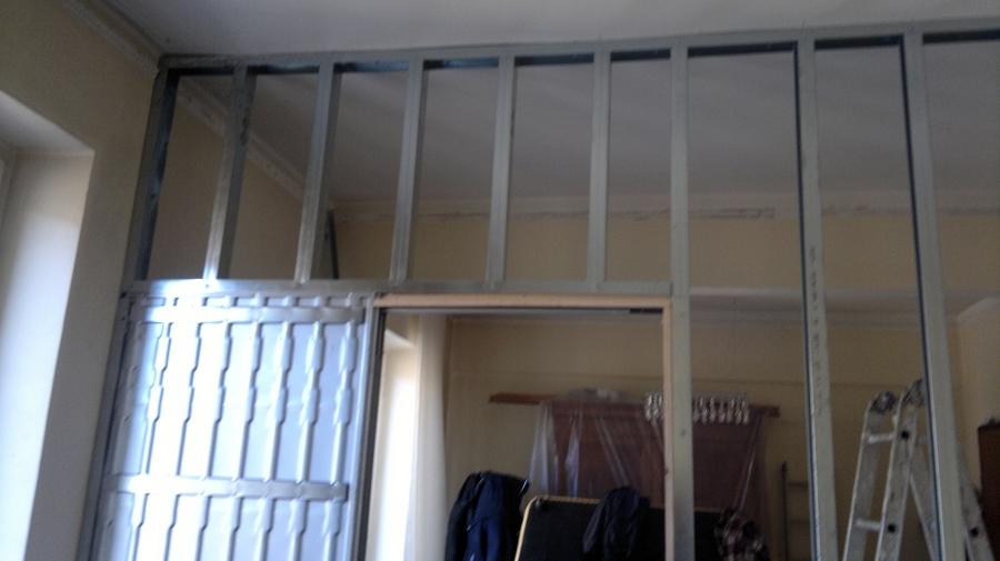 Mobili lavelli montaggio parete in cartongesso con porta - Porta parete cartongesso ...