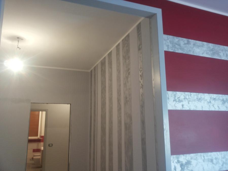 Parete Argento Glitter : Foto parete verticale con sabbiato argento di icolor