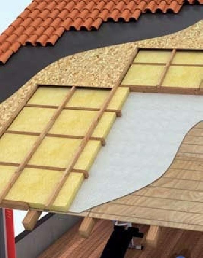 Foto particolare di tetto ventilato di tecno edil works s - Pannelli isolanti per sottotetto ...