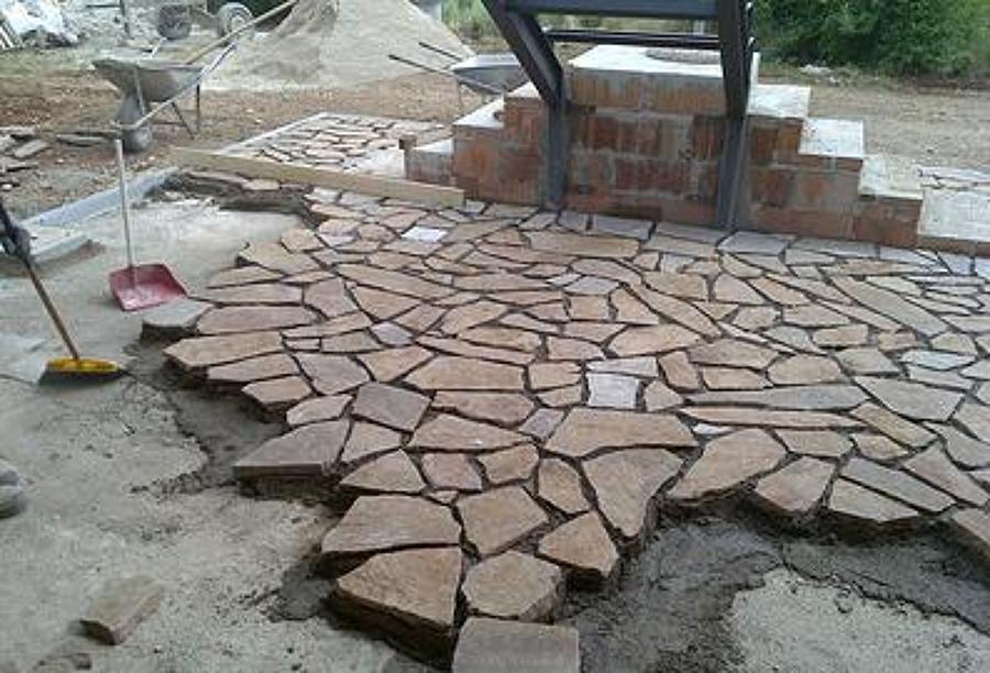 Foto pavimentazione in pietra di porfido di peverelli - Pavimentazione giardino in pietra ...
