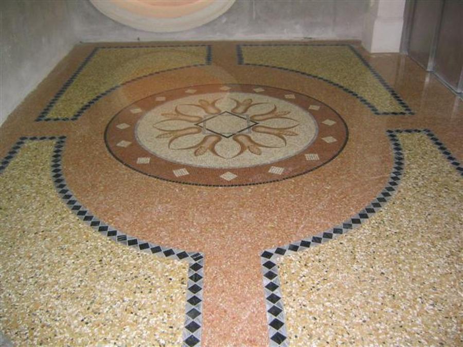 foto pavimento alla veneziana con mosaico di kessler s r