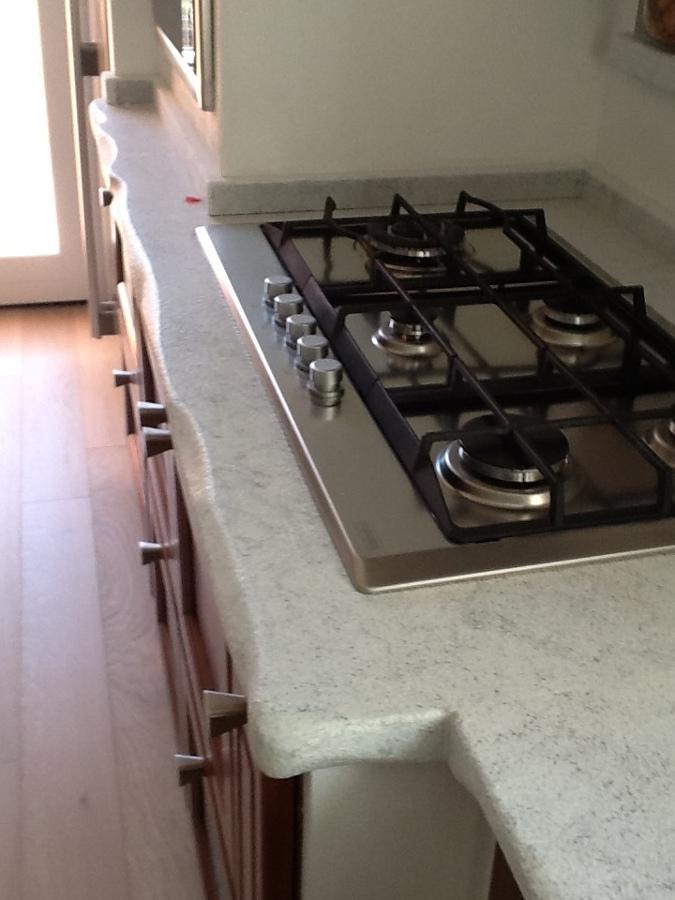 Foto: Piano Cucina Marmo Bianco di Pilgran #233683 - Habitissimo