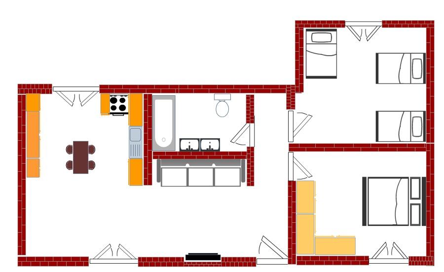 Foto pianta casa domotica de cesdil snc di cesaroni for Foto di case a pianta aperta