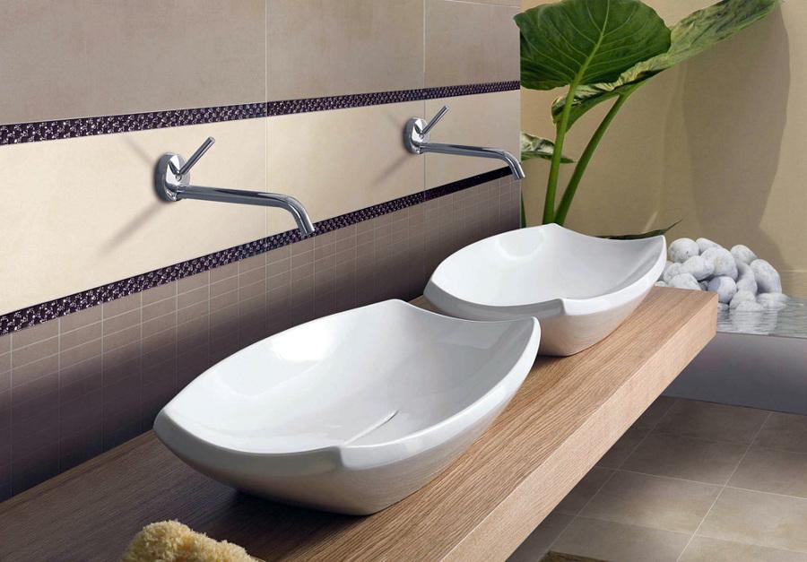 Dom kupatilo umivaonici - Piastrelle bagno opache ...