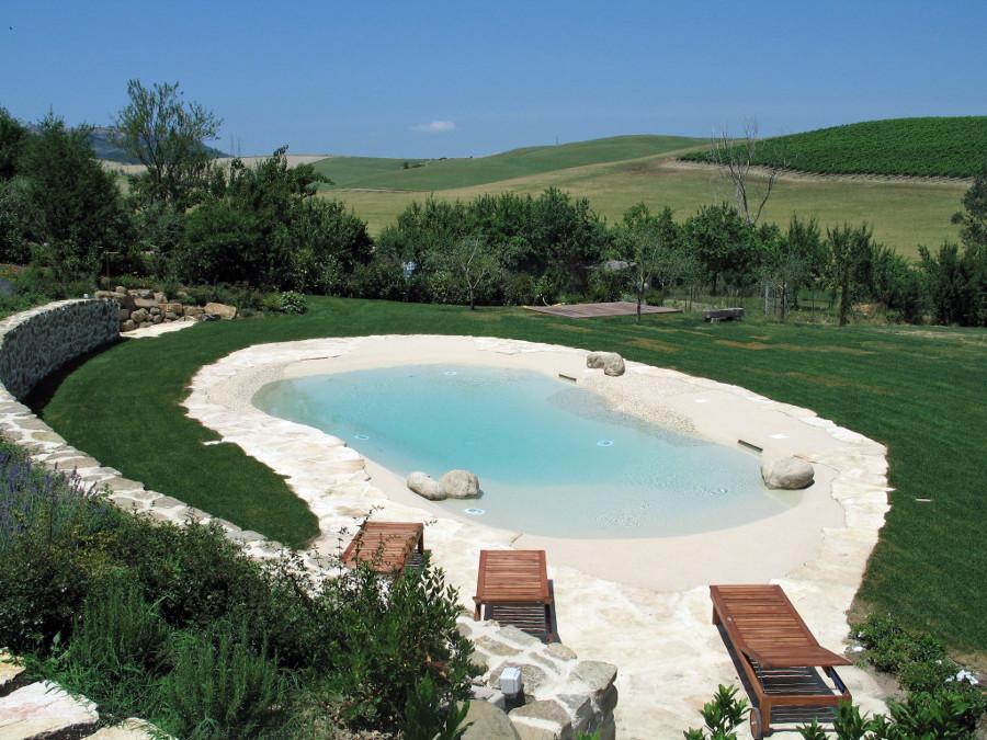 Foto piscina biodesign di forma libera di acqua spa s r l - Piscine biologiche prezzi ...