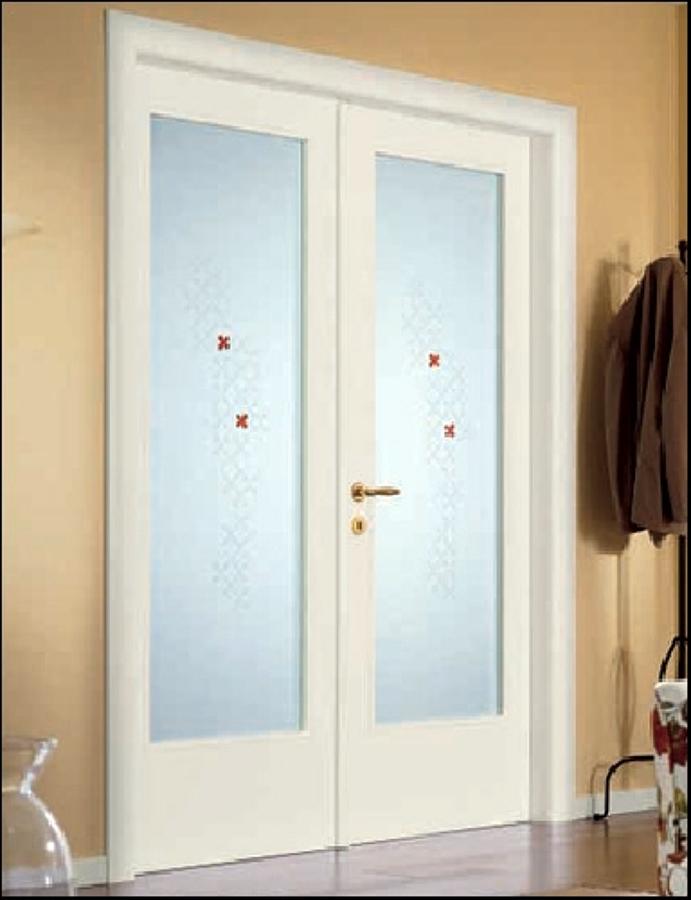 Foto porta 2 battenti con vetro de gardani sicurezza - Colori porte da interno ...