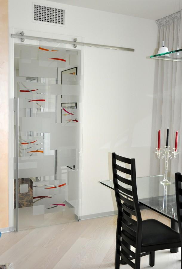 Foto porta cristallo scorrevole di mazzoli porte vetro 60969 habitissimo - Porta in cristallo scorrevole ...