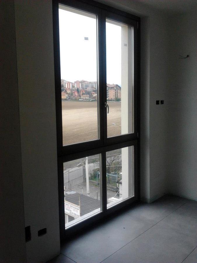 Porta finestra in legno (vista dall'interno)
