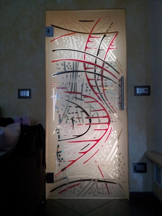 Foto porta vetro decorata di vetrivart 168317 habitissimo - Vetri decorati per finestre ...