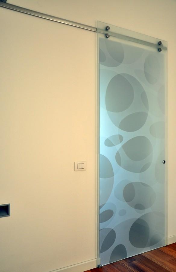 Foto porta vetro scorrevole de mazzoli porte vetro 60968 - Porta in cristallo scorrevole ...