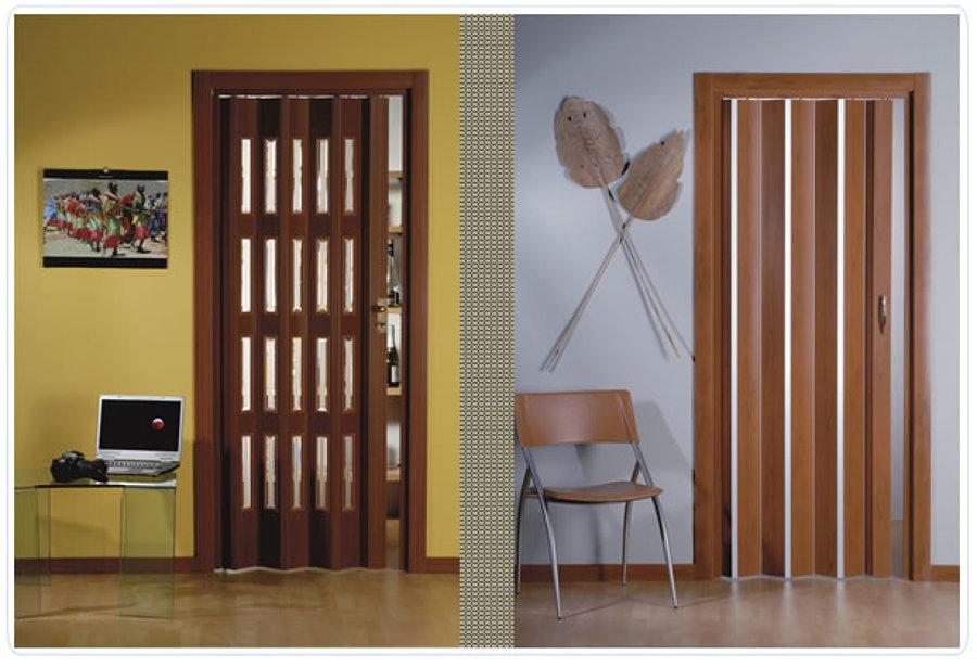 Foto porta a soffietto in pvc di oasis srl semplificata - Porta a soffietto in vetro ...