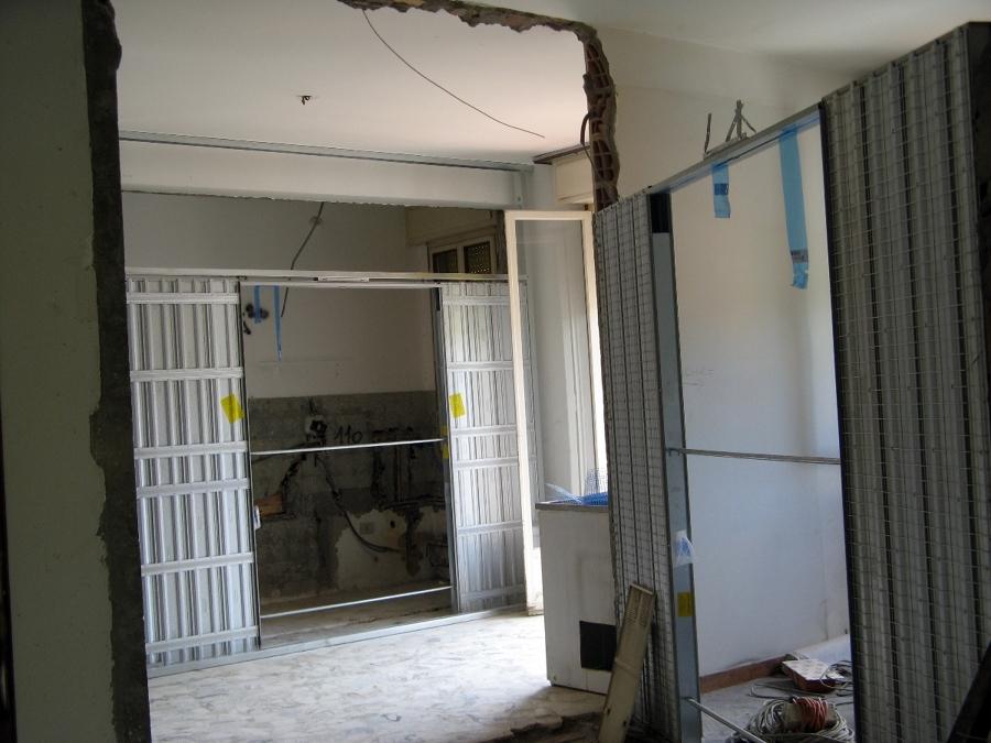 Porte a scomparsa _ posa telai a muro