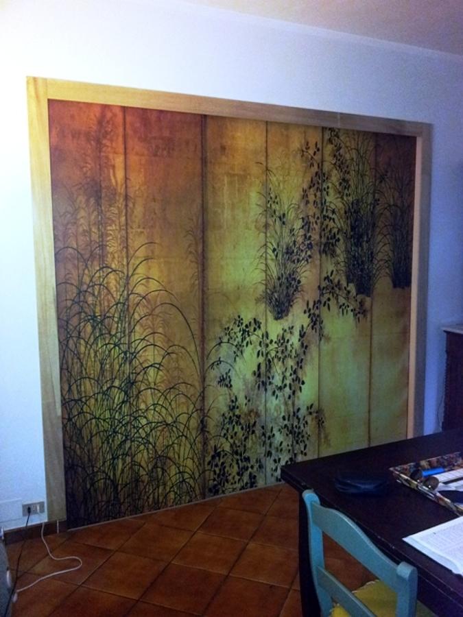 Foto porte scorrevoli con dipinto di progettazione e ristrutturazione locali superfici d autore - Foto porte scorrevoli ...