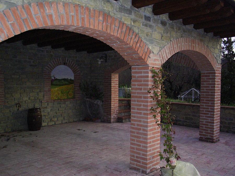 Foto porticato pietra e mattone di bava massimo 85878 for Rivestimento in mattoni per case