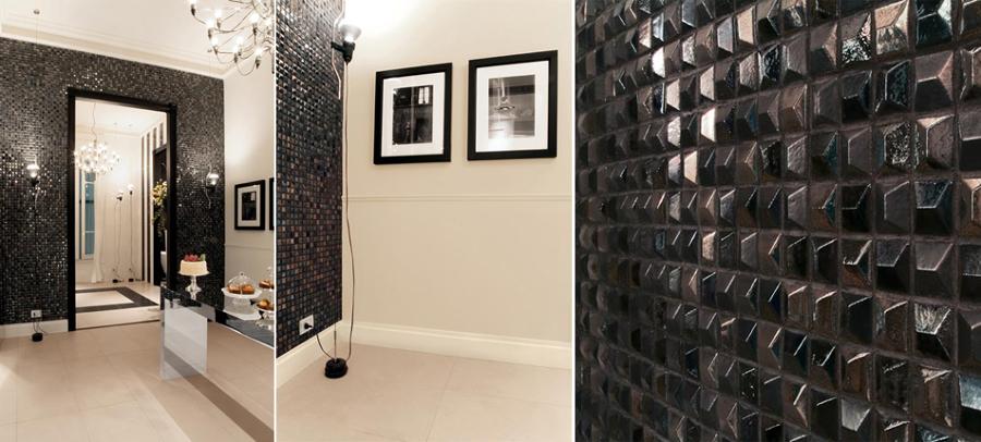 """""""Preziose"""" pareti a rilievo per un bagno fine ed elegante"""