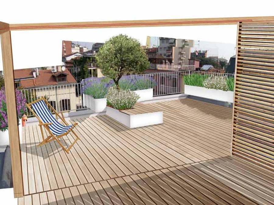 Foto progettazione terrazzo di global service di vergara - Progettazione terrazzi milano ...