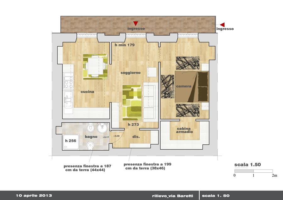 progetto arredo e spazi appartamento mansardato