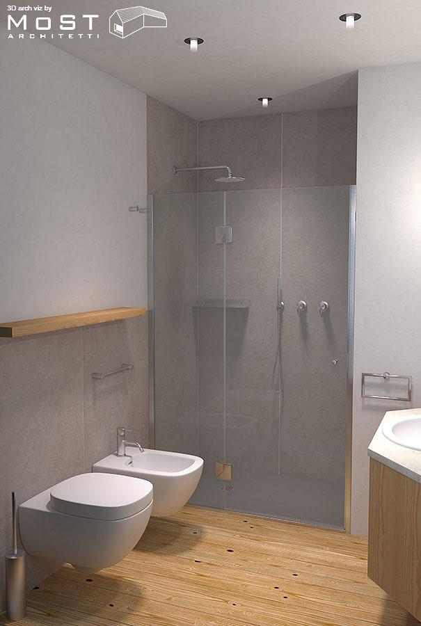 Foto progetto di un piccolo bagno di architetto nicola - Progetto piccolo bagno ...